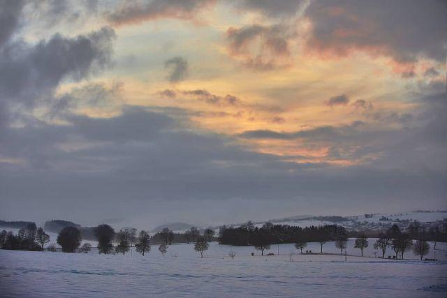 Sunset near Kell am See
